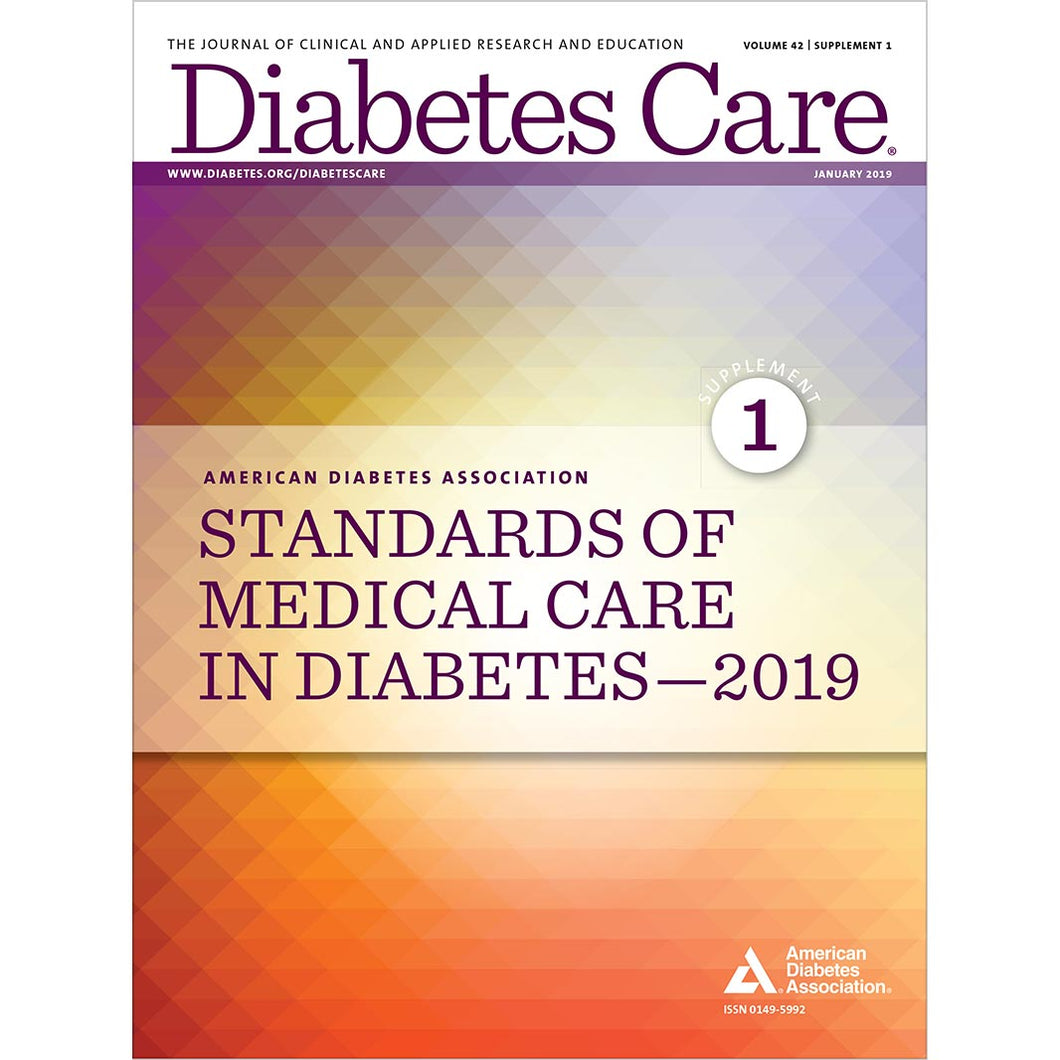 2019 Standards of Medical Care in Diabetes