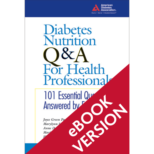 Diabetes Nutrition Q&A for Health Professionals (ePub)