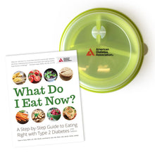 Load image into Gallery viewer, SET: What Do I Eat Now? 2nd Edition & Portion Control Plate with Lid