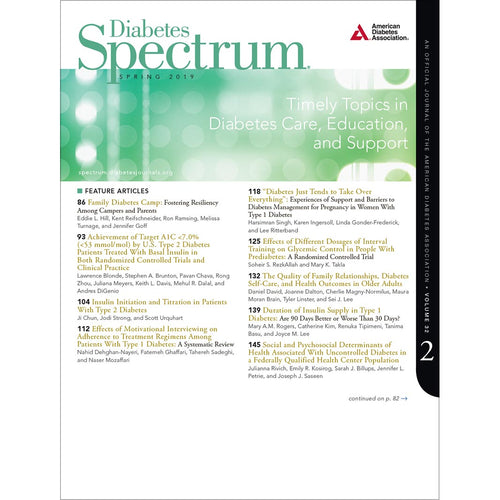 Diabetes Spectrum, Volume 32, Issue 2, Spring 2019