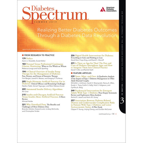Diabetes Spectrum, Volume 32, Issue 3, Summer 2019