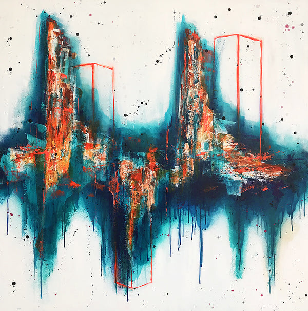 The City 120x120 cm