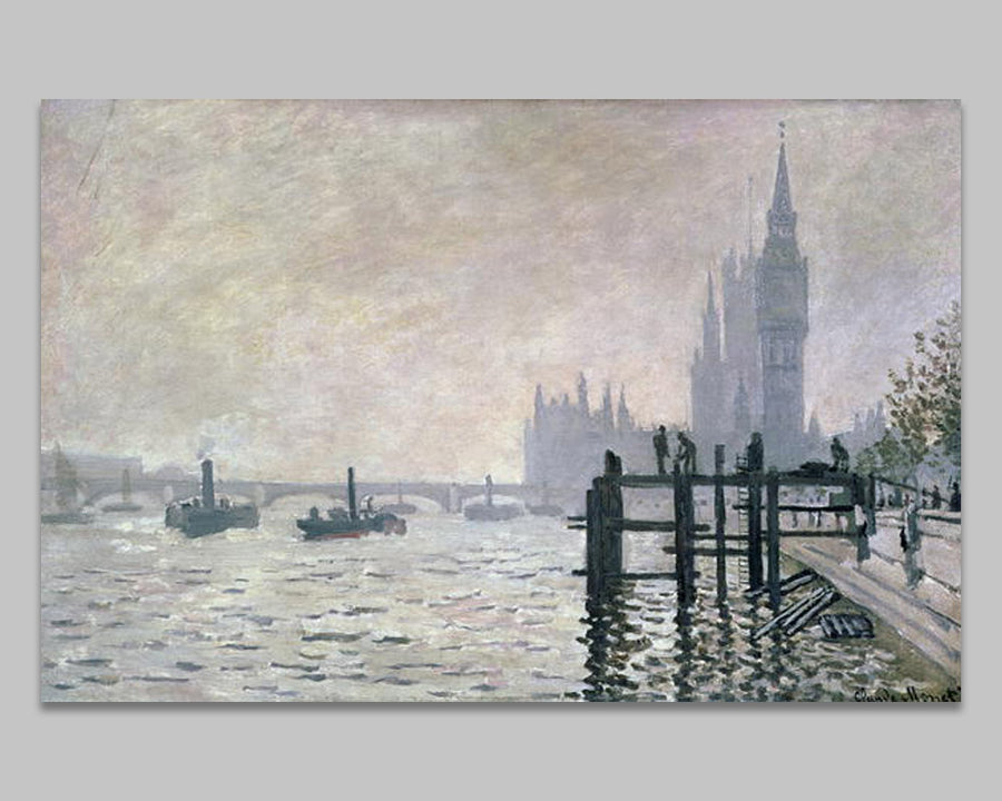 The Thames below Westminster - Monet