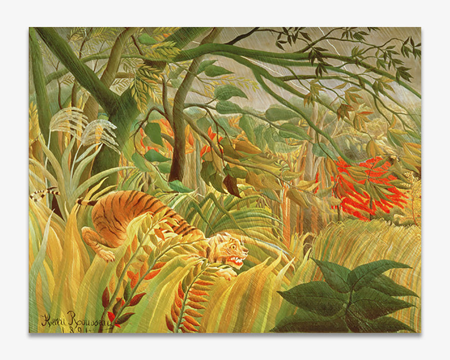 Tiger in a Tropical Storm (Surprised!)- Henri Rousseau