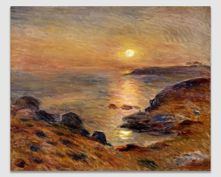 The Setting of the Sun at Douarnenez - Pierre Renoir