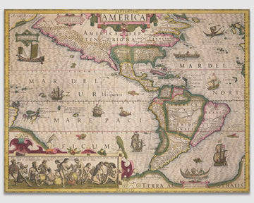 Map of America  -Jodocus Hondius