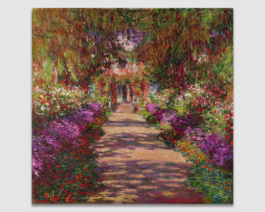 A Pathway in Monet's Garden - Claude Monet