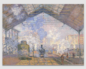 The Gare St. Lazare - Claude Monet