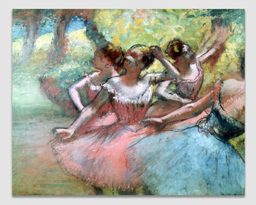 Four ballerinas on the stage - Edgar Degas