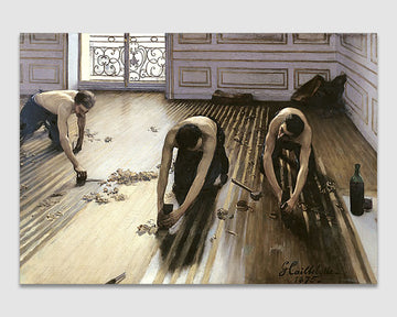 The Parquet Planers - Gustave Caillebotte
