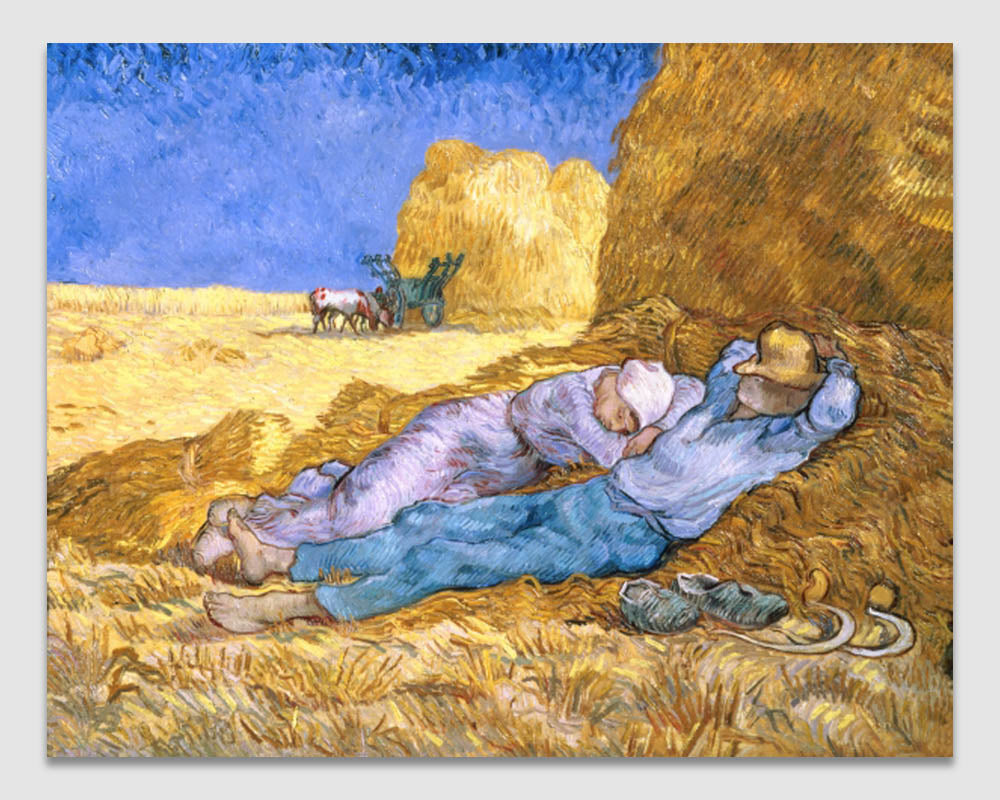 Noon, or The Siesta, after Millet - Vincent Van Gogh
