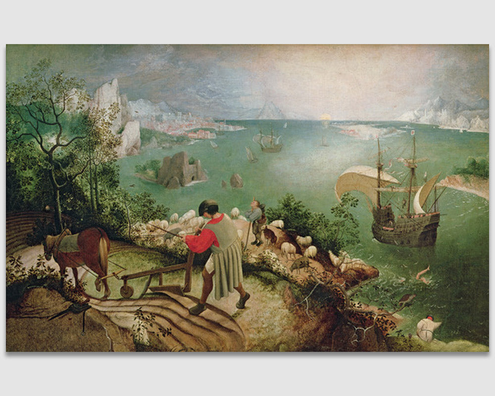 Landscape with the Fall of Icarus -  Pieter Bruegel the Elder
