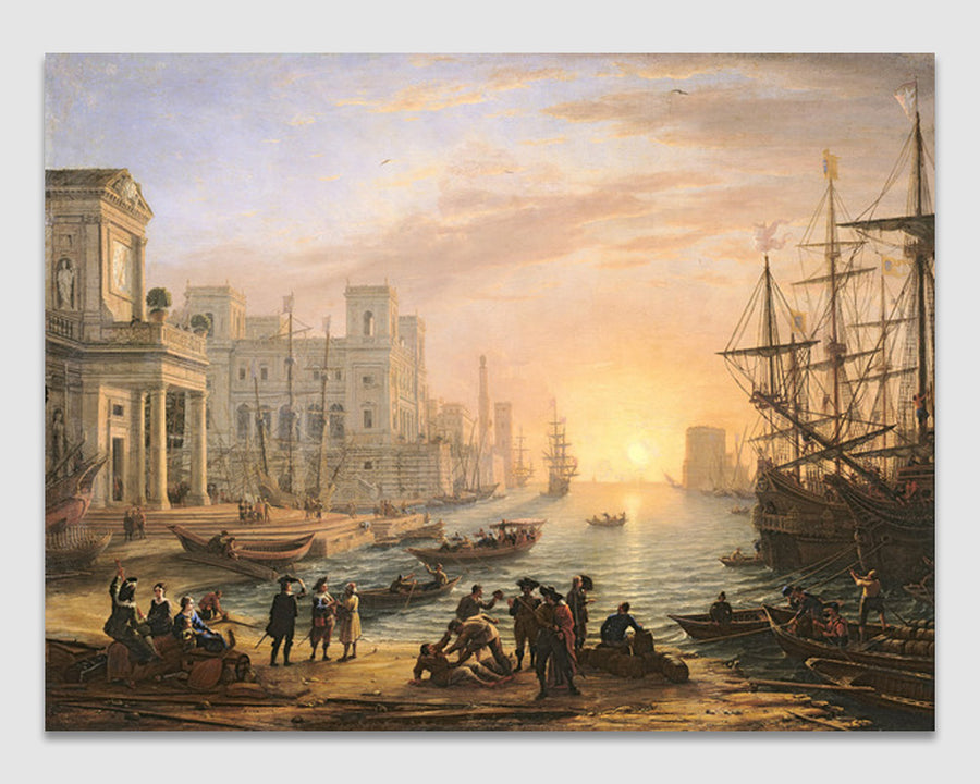 Sea Port at Sunset - Claude Lorrain (Gellee)