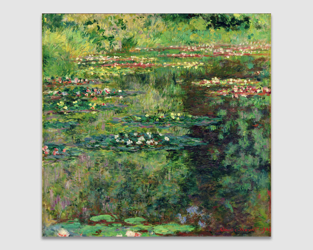 The Waterlily Pond - Claude Monet