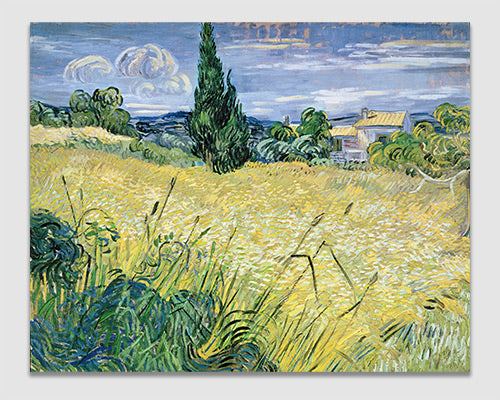 Green Wheat Field with Cypress - Vincent Van Gogh