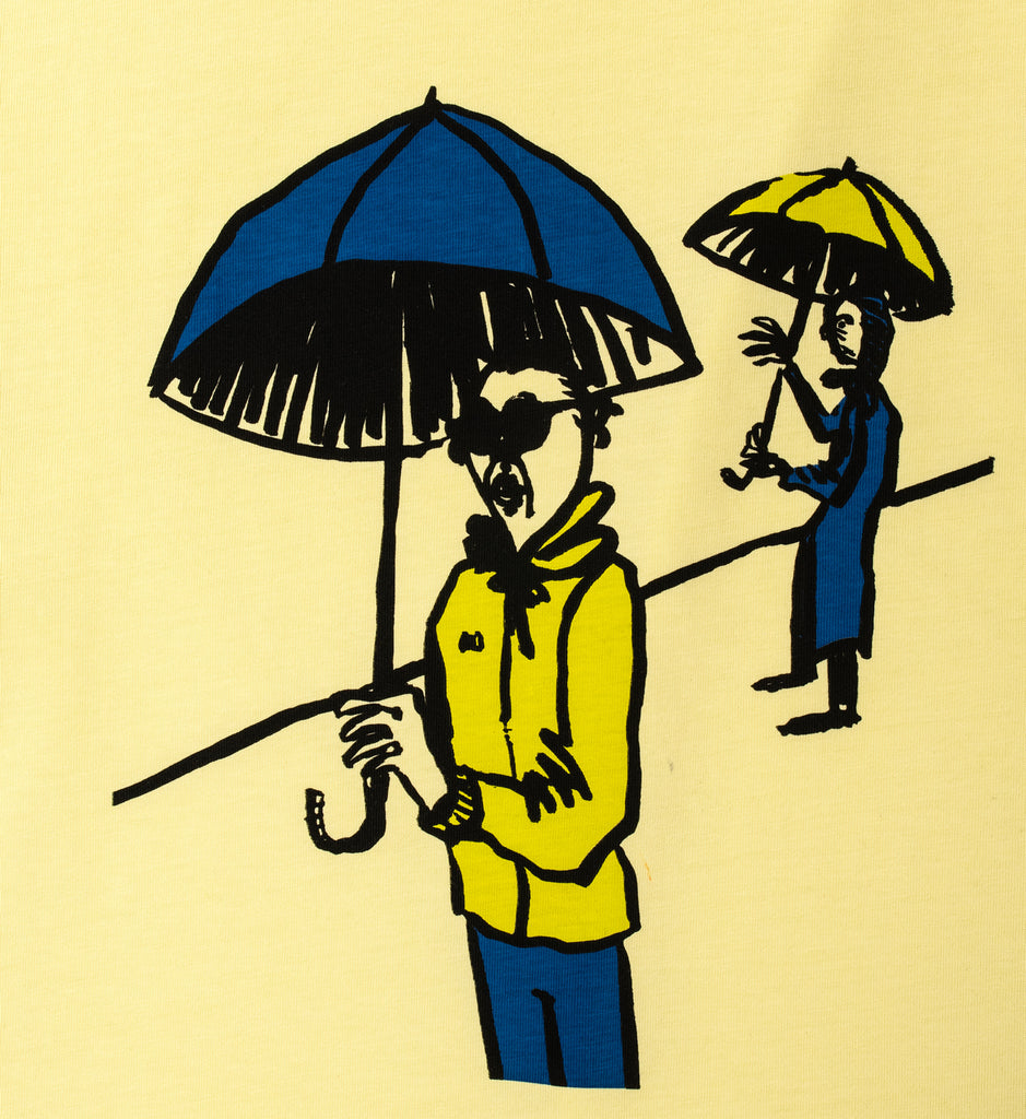 Transportation Unit - Rainy Day Tee - Pale Yellow