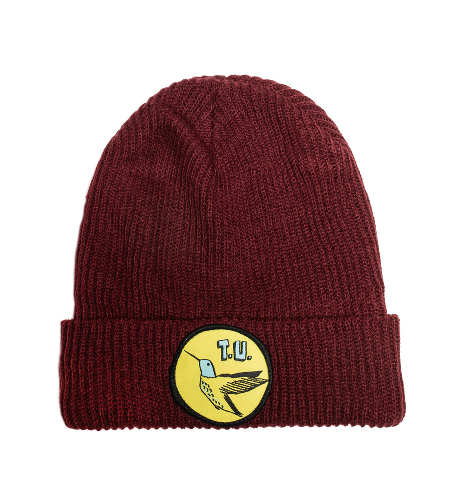 Transportation Unit - Humming Bird T.U. Beanie - Maroon
