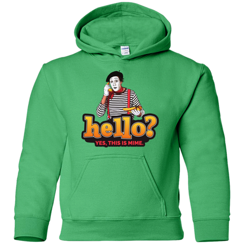 """Hello? Yes, this is Mime."" Kids Pullover Hoodie"