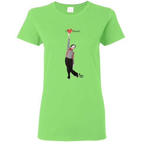 """I Love Pierre!"" Ladies Cotton T-Shirt"