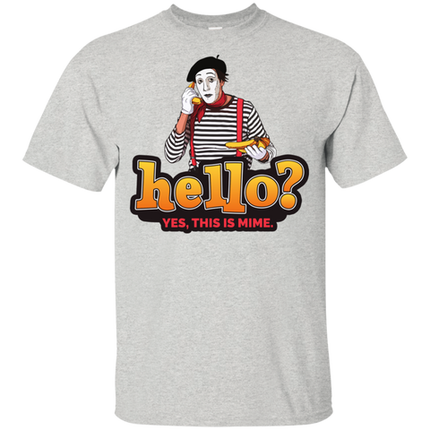 """Hello? Yes, this is Mime."" Kids Cotton T-Shirt"