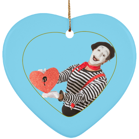 """Naughty or Nice?"" Ceramic Ornament — ""Nice"" Heart"