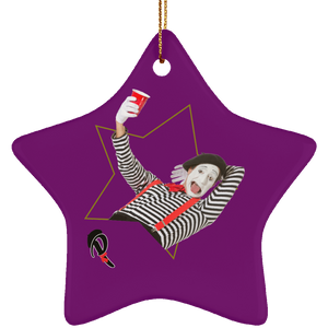 """Naughty or Nice?"" Ceramic Ornament— ""Naughty"" Star"