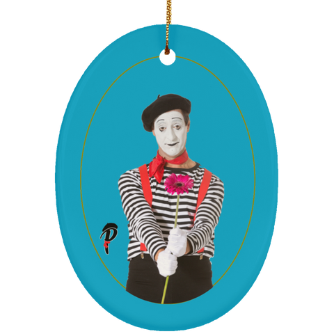 """Naughty or Nice?"" Ceramic Ornament— ""Nice"" Oval"