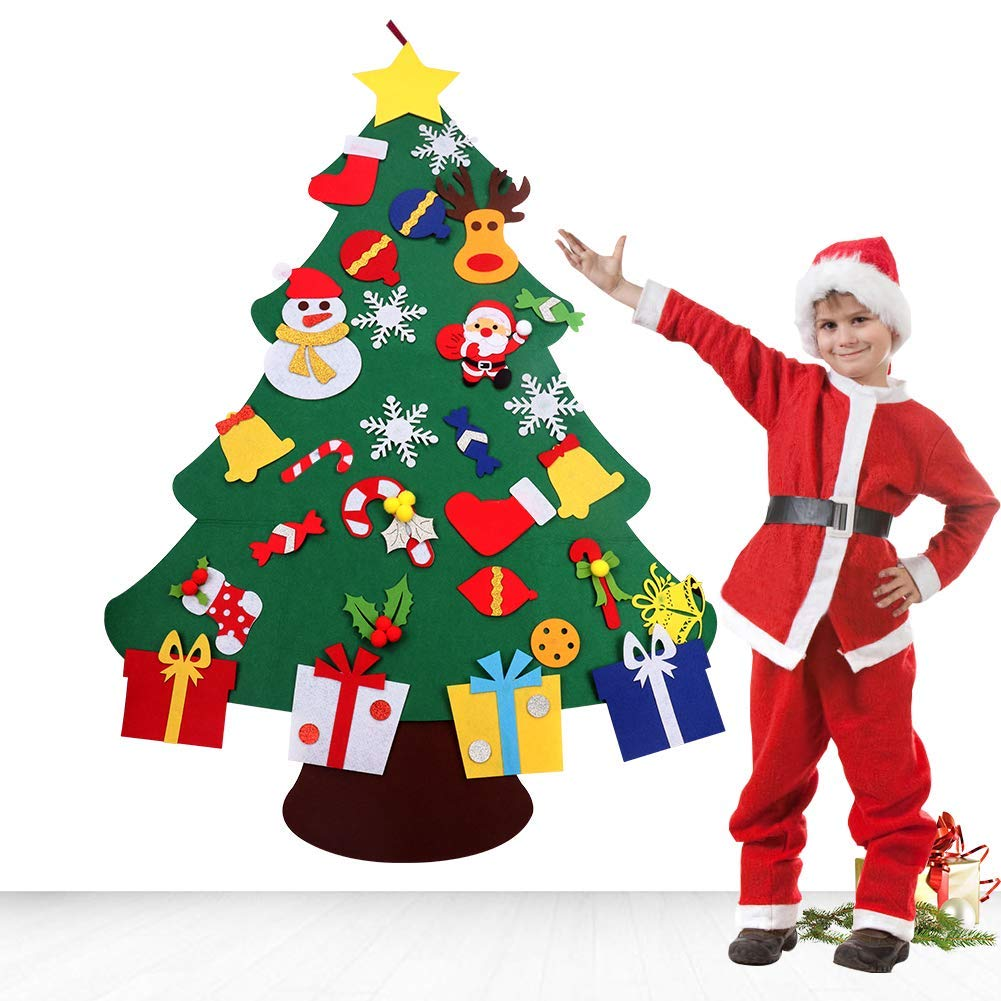 5 Ft. Wall Hanging DIY Felt Christmas Tree   For Kids & Toddlers ...