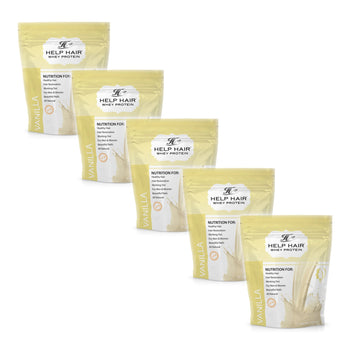 Help Hair Whey Protein Shake - FIVE Pack