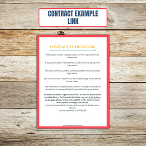 Ultimate Cake Project Printable Planner Geometric Design contract example link page