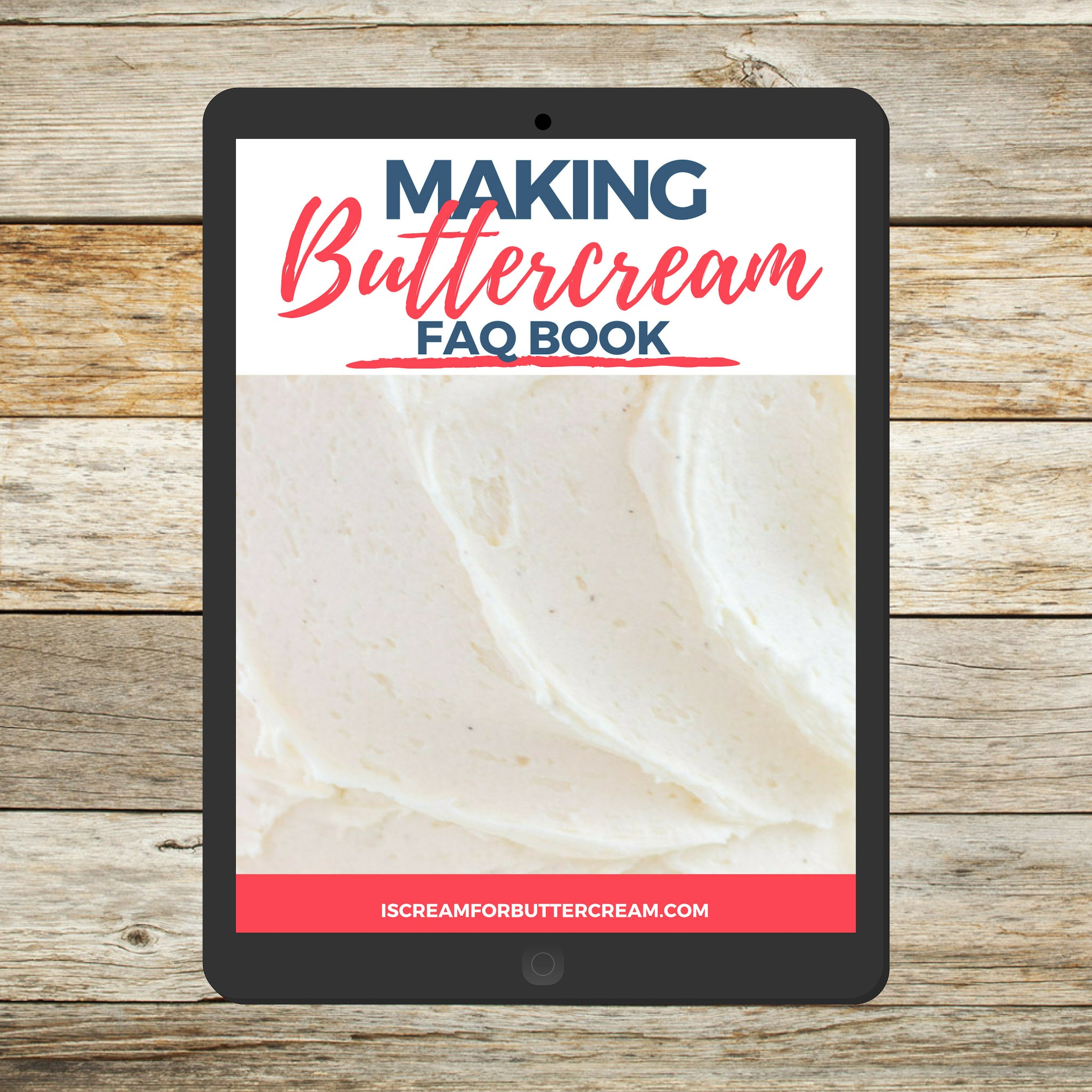 Making Buttercream FAQ book cover page