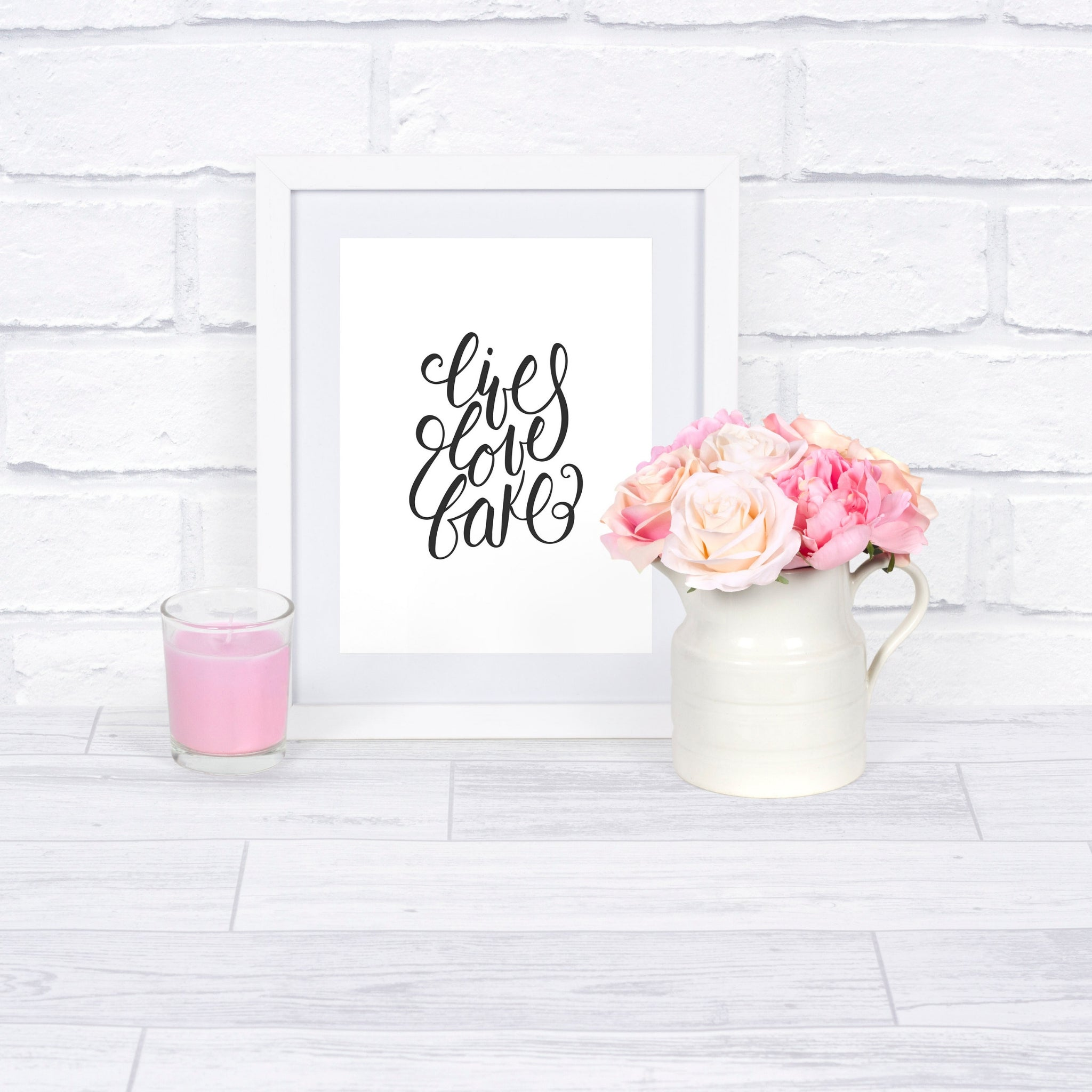 Live Love Bake Printable in frame