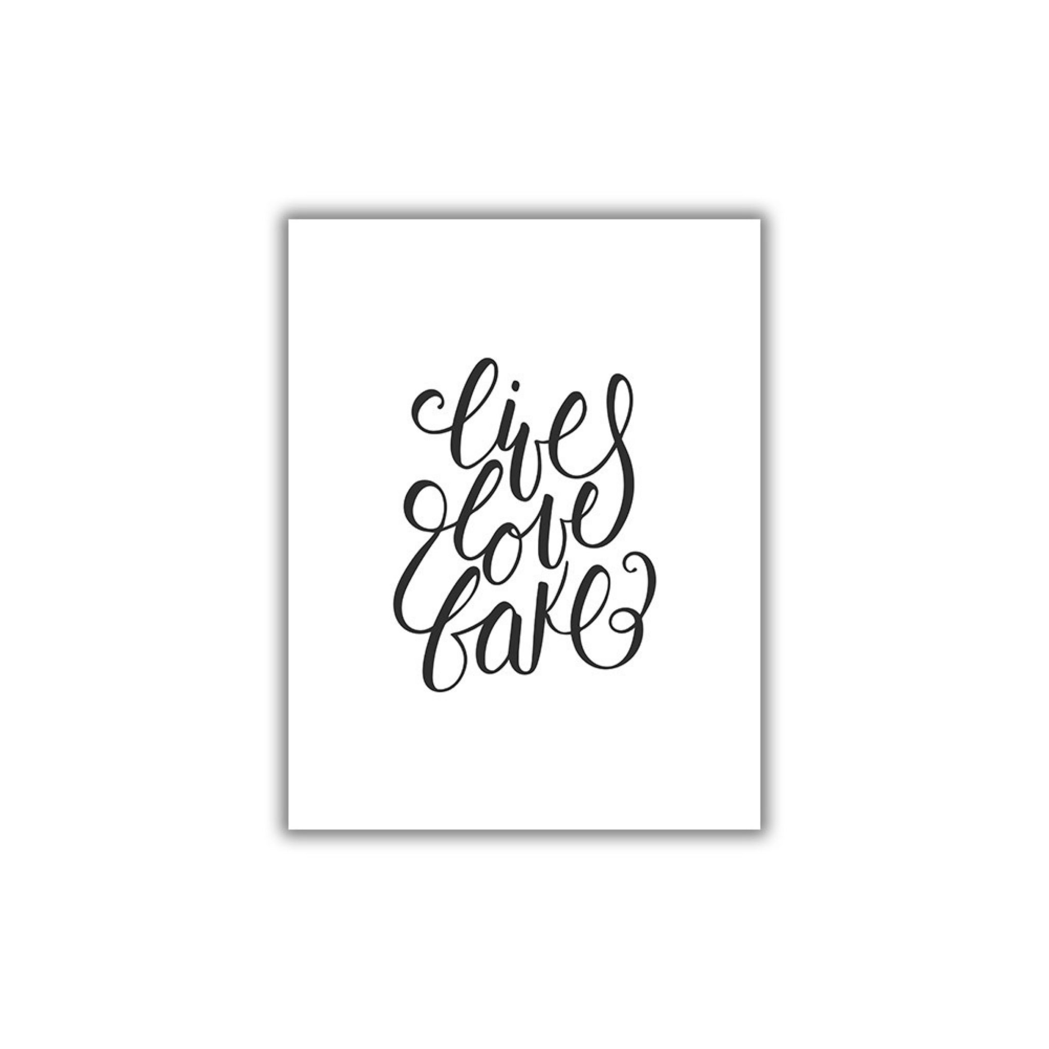Live Love Bake Printable