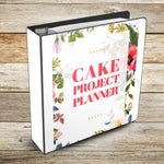 Ultimate Cake Project Printable Planner Floral Design Mockup
