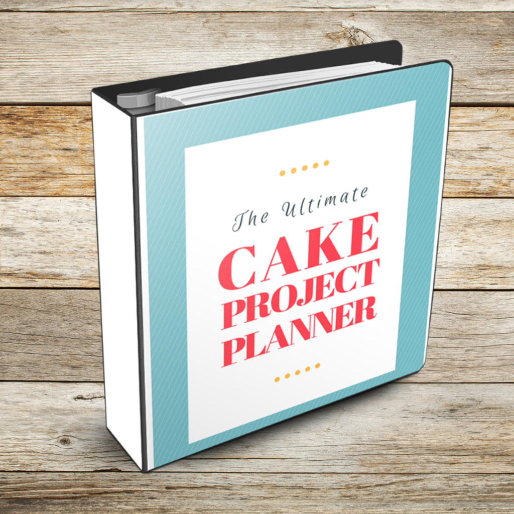Ultimate Cake Project Printable Planner Geometric Design mockup