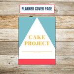 Ultimate Cake Project Printable Planner Geometric Design cover sheet