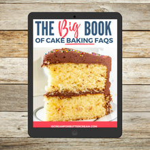 Load image into Gallery viewer, The BIG Book of Cake Baking FAQs E-book cover page