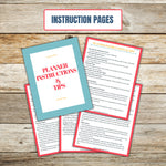 Ultimate Cake Project Printable Planner Geometric Design instruction pages