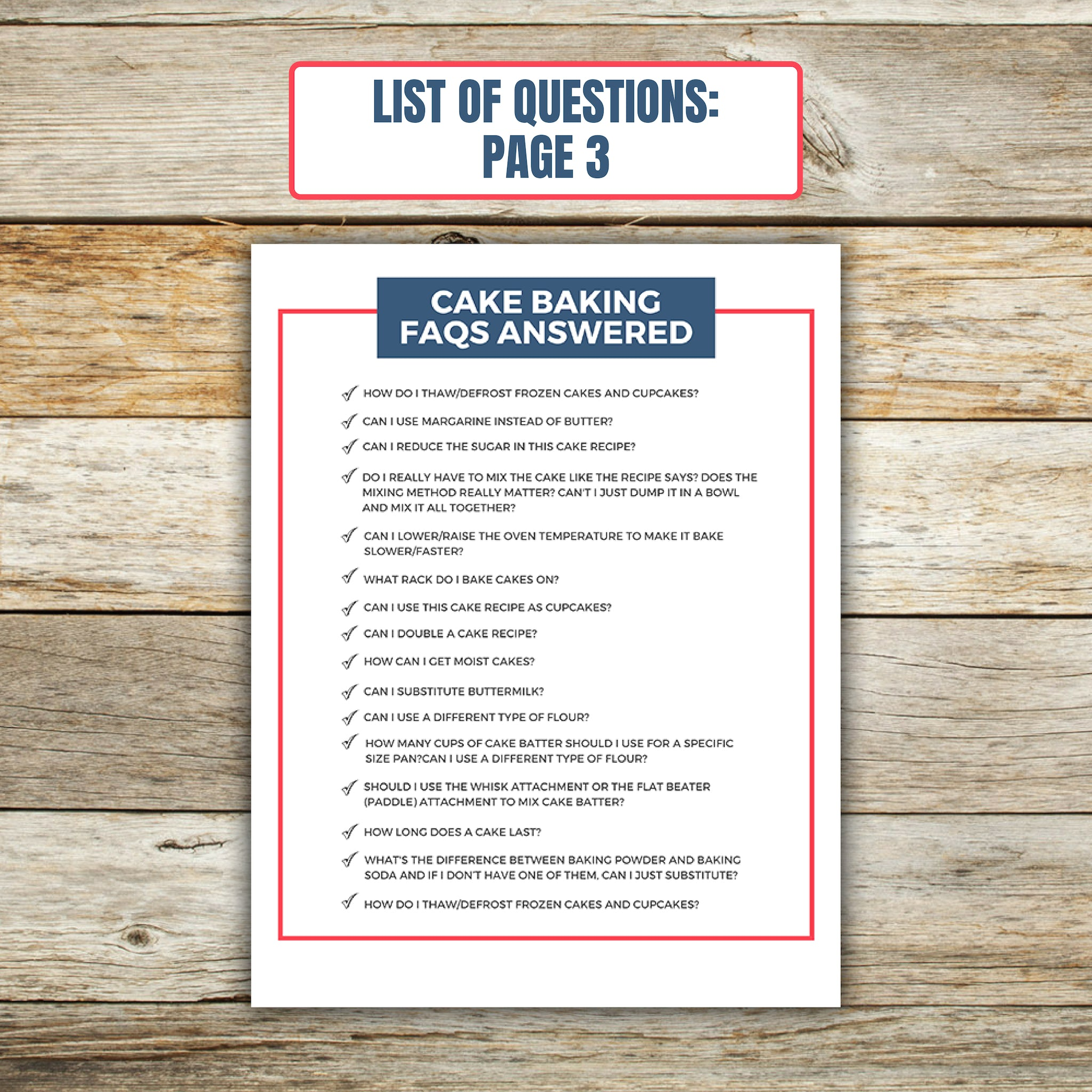 The BIG Book of Cake Baking FAQs E-book questions page 3