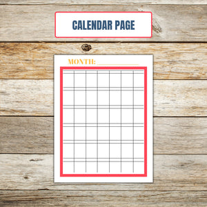 Ultimate Cake Project Printable Planner Geometric Design calendar page