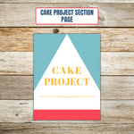 Ultimate Cake Project Printable Planner Geometric Design section page