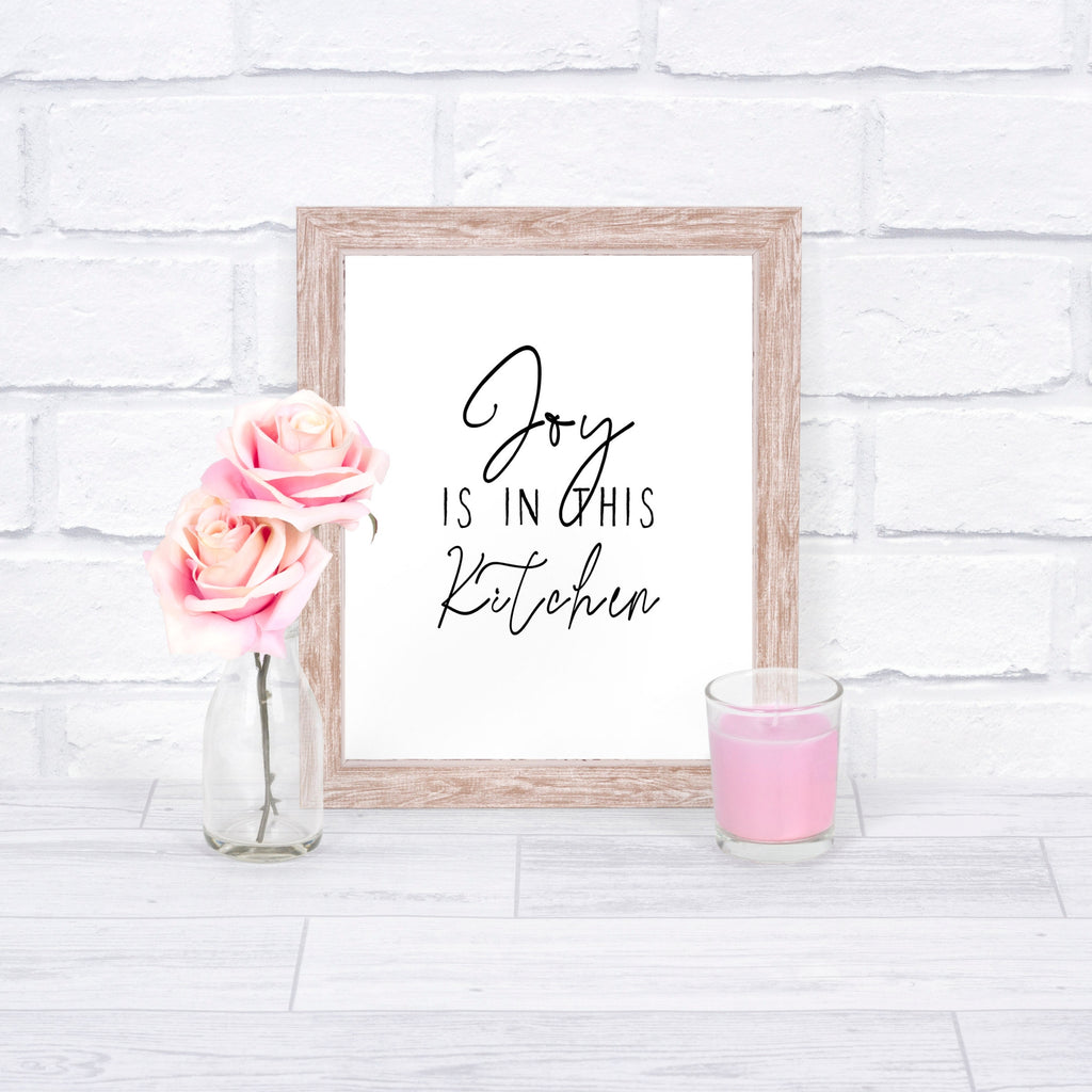 Joy is in this Kitchen Printable Framed Print
