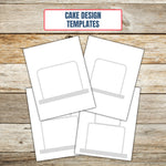 Ultimate Cake Project Printable Planner Geometric Design sketch pages