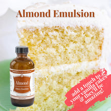 Load image into Gallery viewer, almond emulsion with cake background