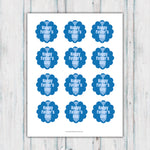Blue Happy Father's Day Tie Cupcake Topper Printable