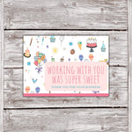 Cake Business Thank You Card white