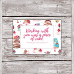Cake Business Thank You Cards Watercolor Cake Design 10