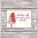 Cake Business Thank You Cards Watercolor Cake Design 3