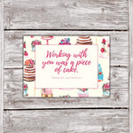 Cake Business Thank You Cards Watercolor Cake Design 4
