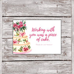 Cake Business Thank You Cards Watercolor Cake Design 6